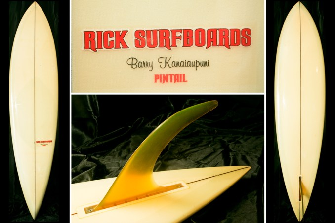 Rick Surfboards Barry Kanaiaupuni Model Pintail via Surfboardline.jpg