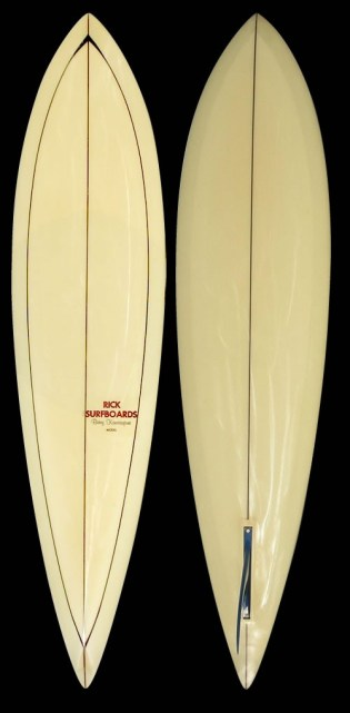 Rick Surfboards Barry Kanaiaupuni Model non Pintail Logo 1