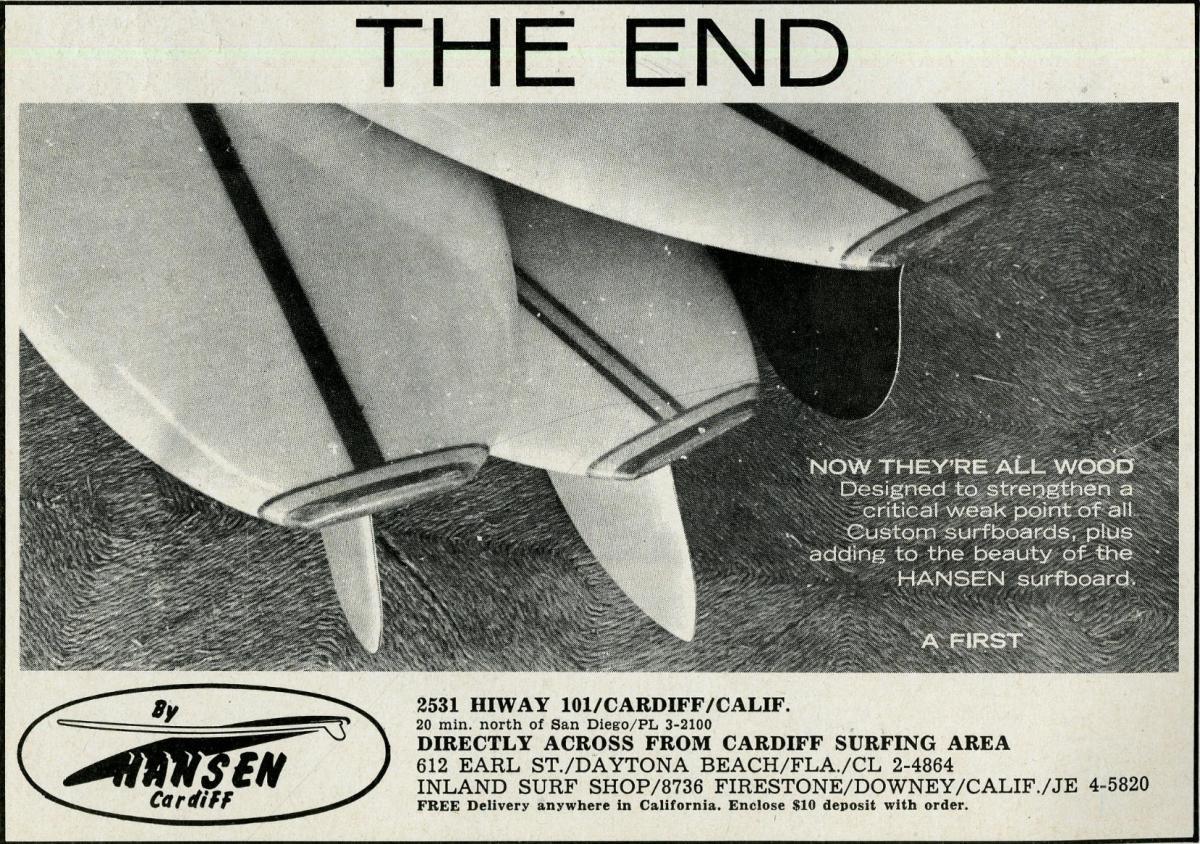 Vintage Hansen Ad: Sagas of Shred