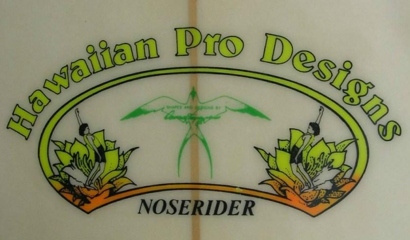 Donald Takayama Hawaiian Pro Designs Noserider Logo