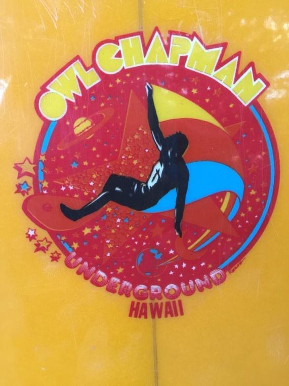 Owl Chapman Underground Surfboard Logo