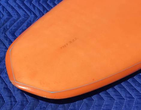 Vintage Infinity Surfboards Single Fin Tail