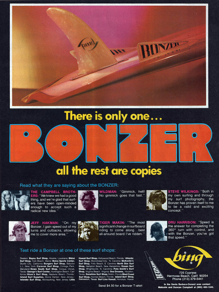 Vintage Bing Bonzer Ad: Sagas of Shred