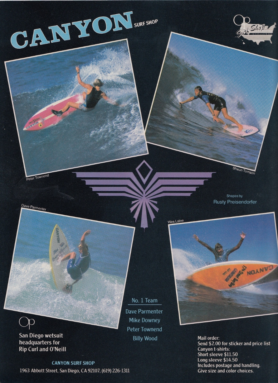 Canyon Surfboards Ad: Sagas of Shred
