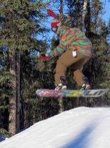 Snowboarding at Moose Mountain Alaska