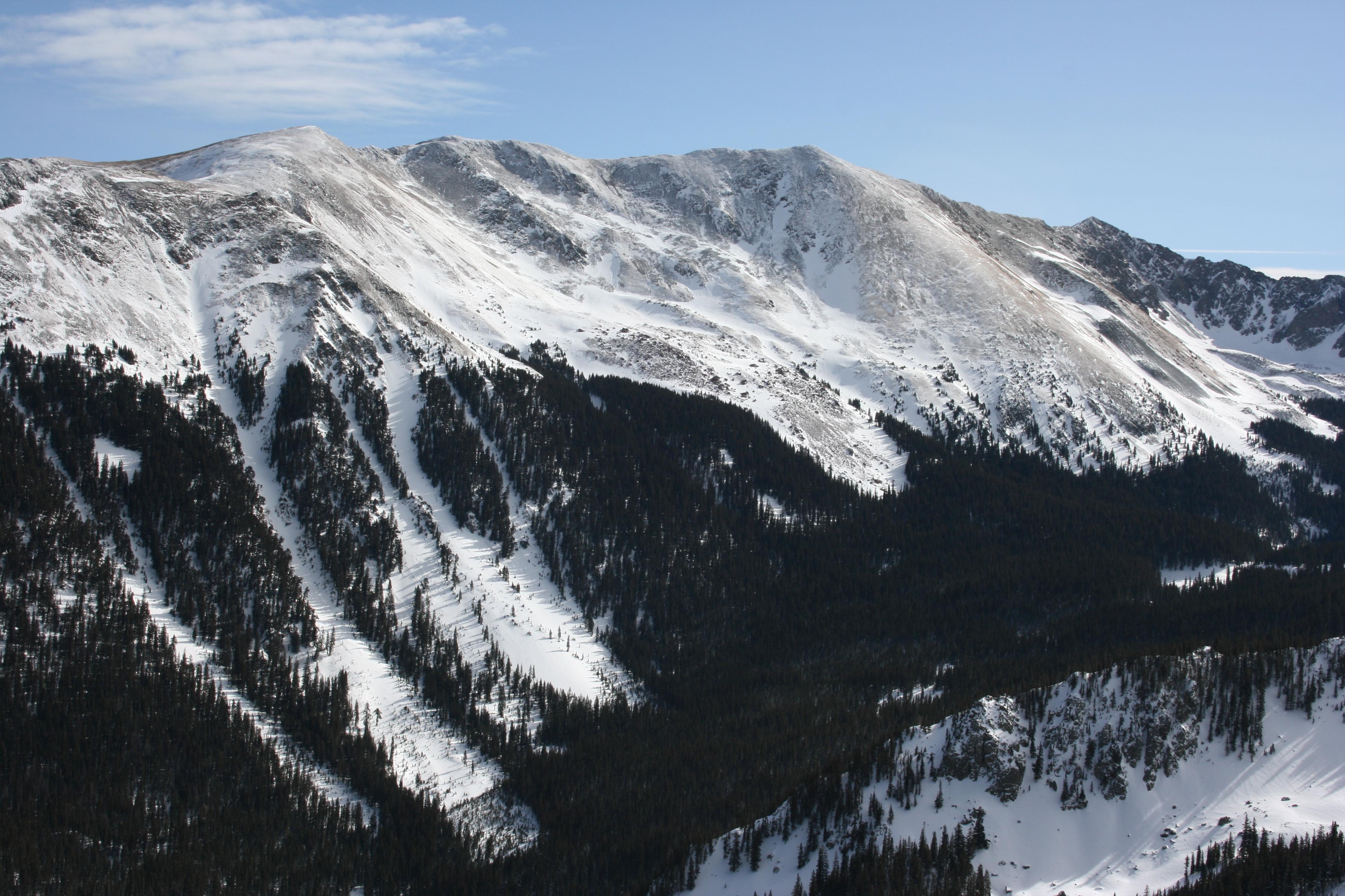 Wheeler Peak (13167', 4013 m), one long, difficult hike.