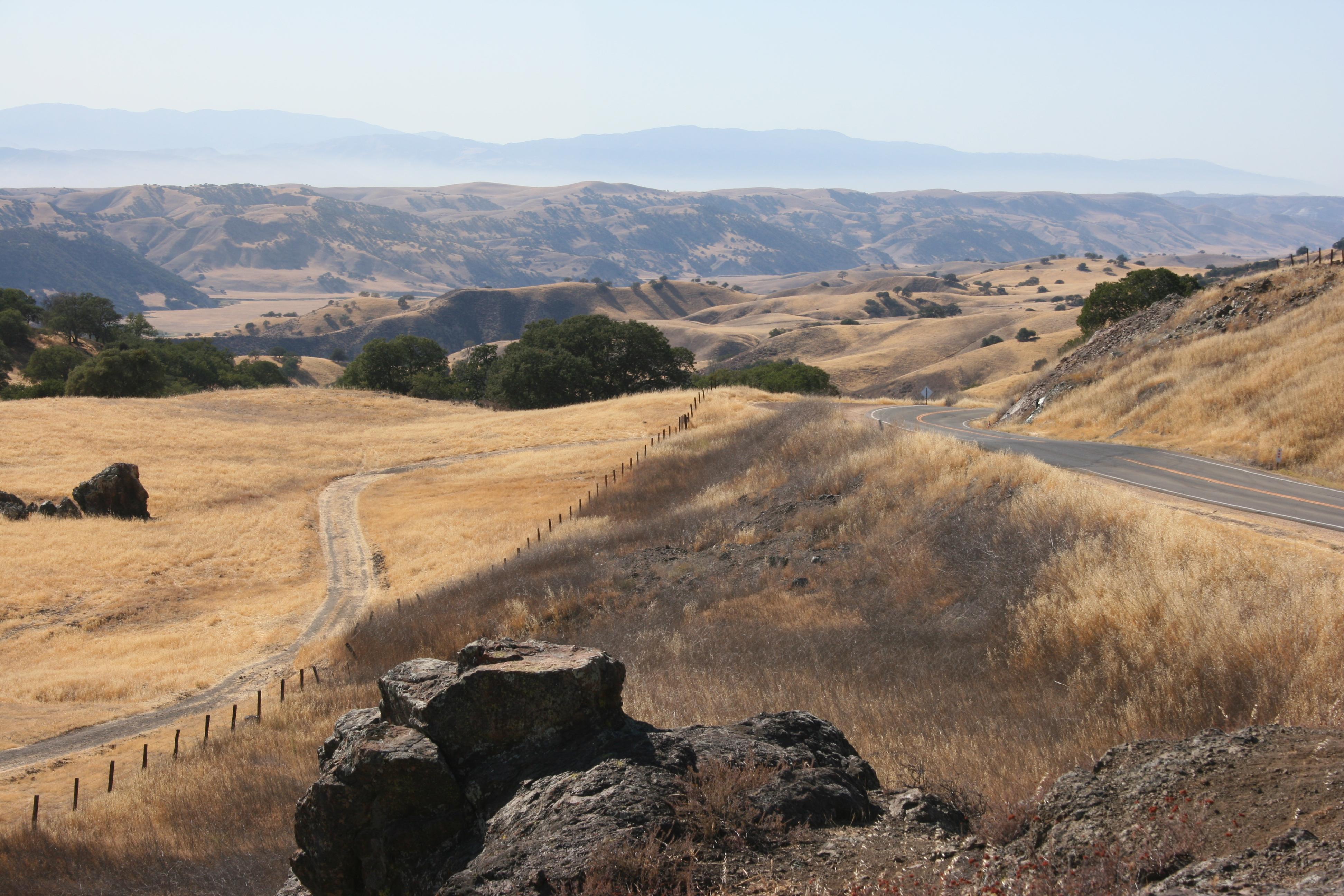 Along Highway 198, Monterey County line