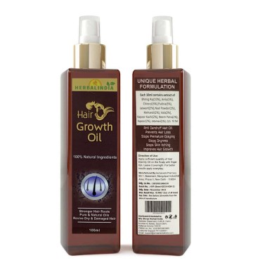 Shree Herbal India Hair Growth Oil 100% Natural Ingredient Hair Oil (300 ml)