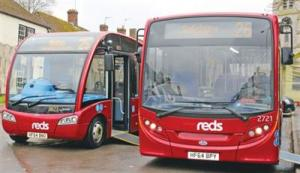 Reds buses