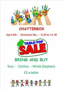 Chatterbox Bring and Buy Table Top Sale
