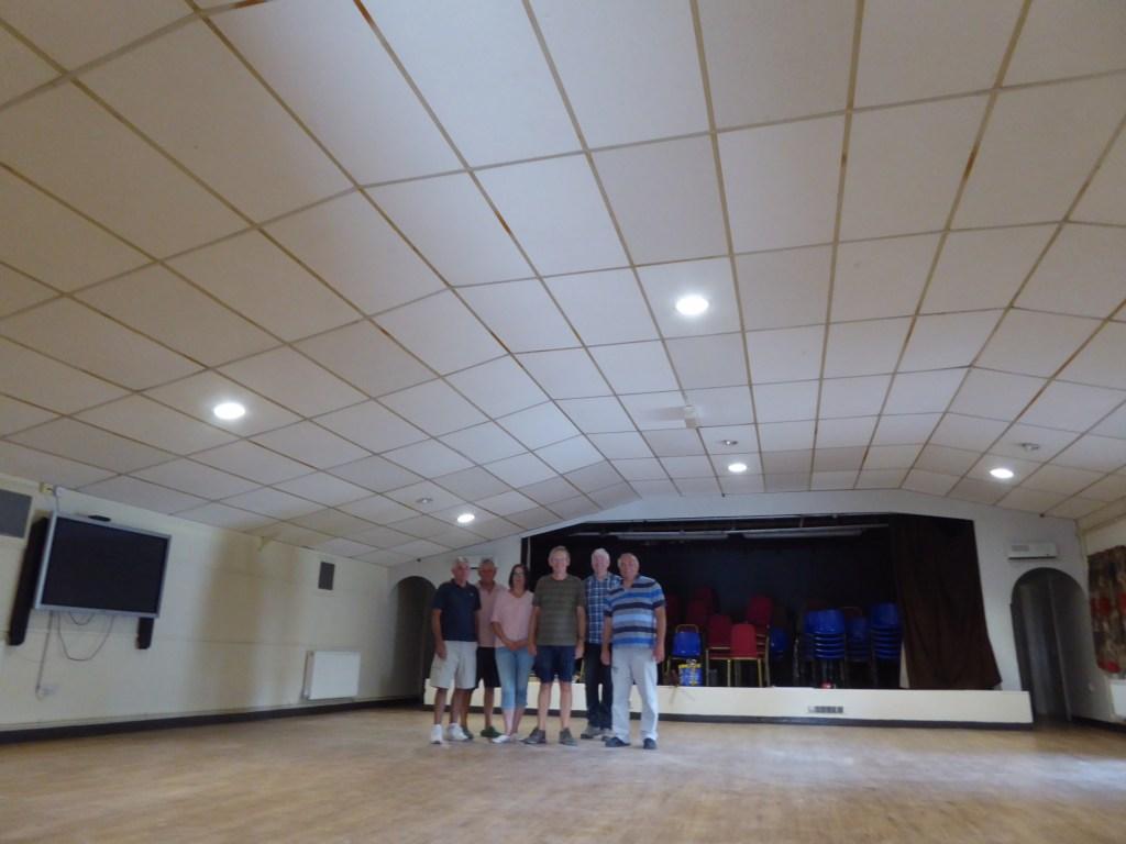 village hall ceiling tiles after