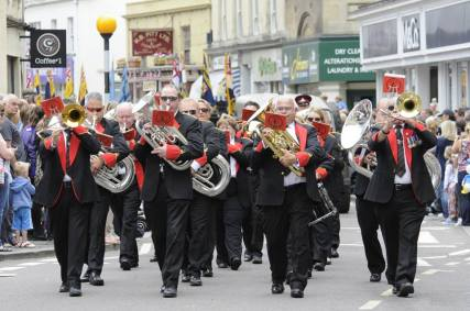 Trowbridge Armed forces day, leading the march!