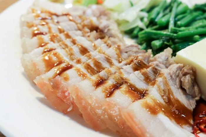 內湖便當簡餐 元初食堂家常白切肉配辣醬油好吃