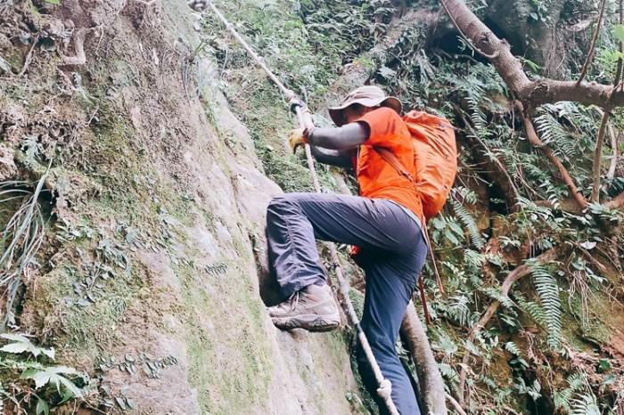 南港山攀岩步道 挑戰驚心動魄戶外攀爬場需要體能還要腦袋