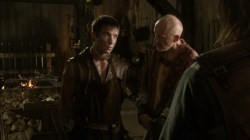 Joe Dempsie Gendry Andrew Wilde Tobho Mott blacksmith Game of Thrones screencaps