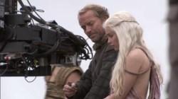 Daenerys Targaryen Emilia Clarke Ser Jorah Mormont Iain Glen Game of Thrones horse pictures images