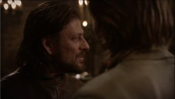 Sean Bean Eddard Stark Game of Thrones smile screencaps images