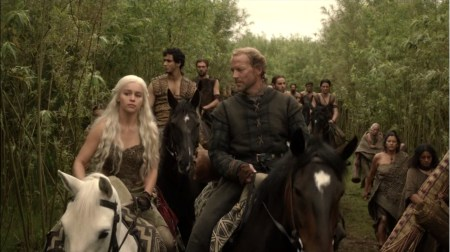 Ser Jorah Mormont Iain Glen Daenerys Targaryen Emilia Clarke Game of Thrones pictures photos screencaps