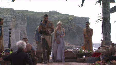 Daenerys Targaryen Emilia Clarke Khal Drogo Jason Momoa pictures photos Game of Thrones