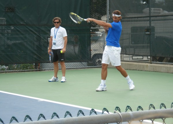 Rafael Nadal Western & Southern Open photos images forehand swing Rafa tennis practice grunt sigh