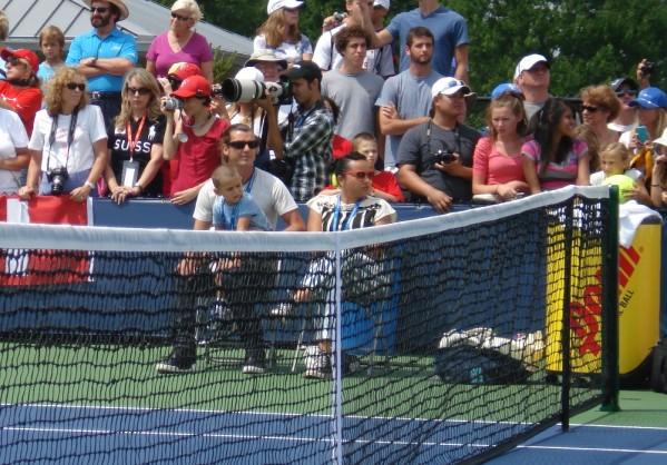 Federer Gavin Rossdale Cincinnati Open practice Monday pictures photos images