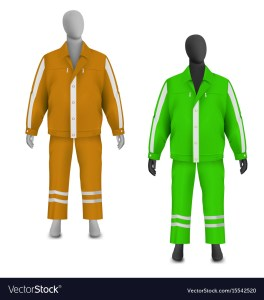 safety-jacket-and-pants-set-on-mannequin-vector-15542520