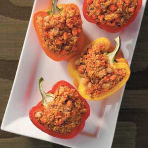 Low Calorie Quinoa Stuffed Peppers