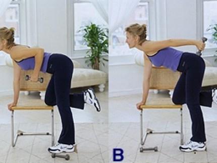 Triceps Single Arm Kickbacks Workout