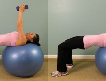 Exercise Ball Tricep Toning Workouts