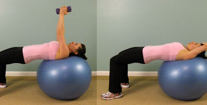 Tricep Workout on Exercise Ball