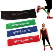 Highest-Quality-Athleema-Set-of-3-Loop-Bands-Light-Medium-Heavy-10-X-2-the-Best-Exercise-Loop-Resistance-Bands-for-Any-Workout-Great-for-Home-Gyms-Yoga-Pilates-Physical-Therapy-100-Natural-Latex-0