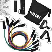 Kinzi-Resistance-Band-Set-with-Door-Anchor-Ankle-Strap-Exercise-Chart-Resistance-Band-Carrying-Case-0