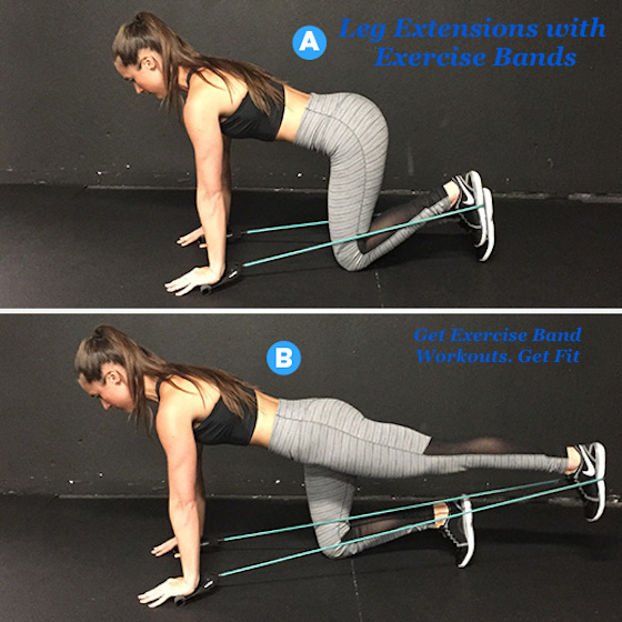 Leg Extension with Exercise Bands