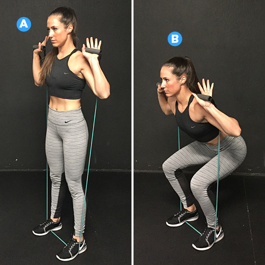 Resistance Band Squat Exercises