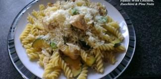 Fusilli Chicken Zucchini Pine Nuts