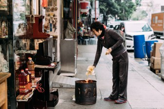 The family needs to burn joss paper and offerings everyday where they are working on ritual-related
