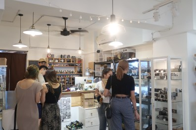 Customers browsing to find the most quirky vintage goods