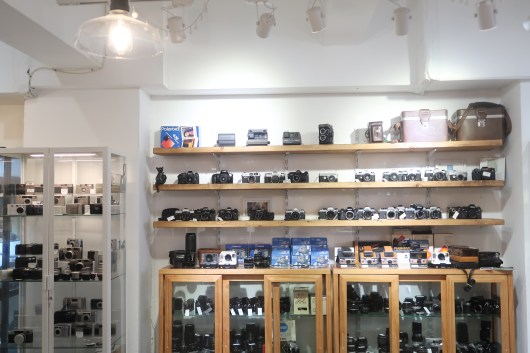 Display of cameras of all sizes and shapes