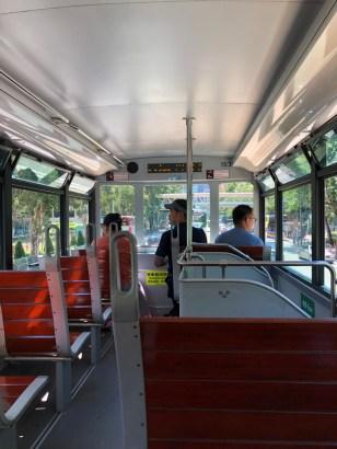 Interior designs of the tram (Photo credit: Alvina)