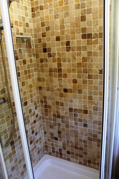 Marble tiled shower after Cleaning Church Preen