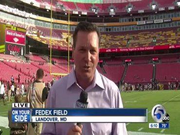 Sports stadium, reporter