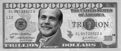 Bernanke Trillion Dollar Bill