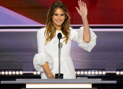 ridiculous liberal writer implies melania trump s white dress is