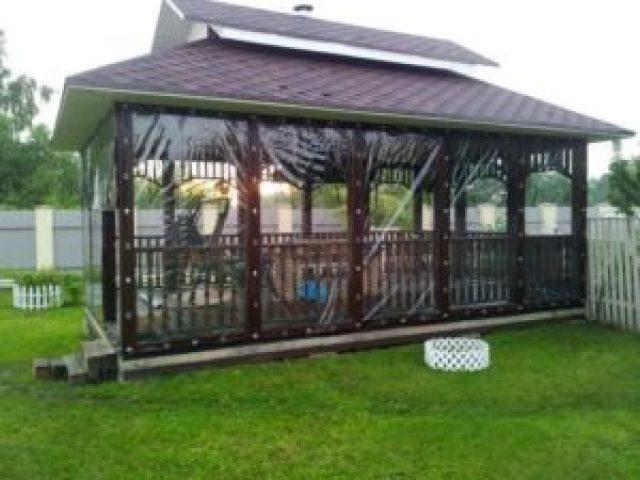 Пластиковые шторы веранда