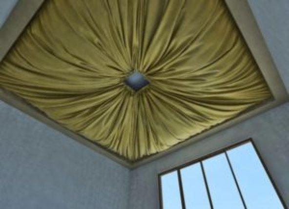 Цветной тканевый потолок