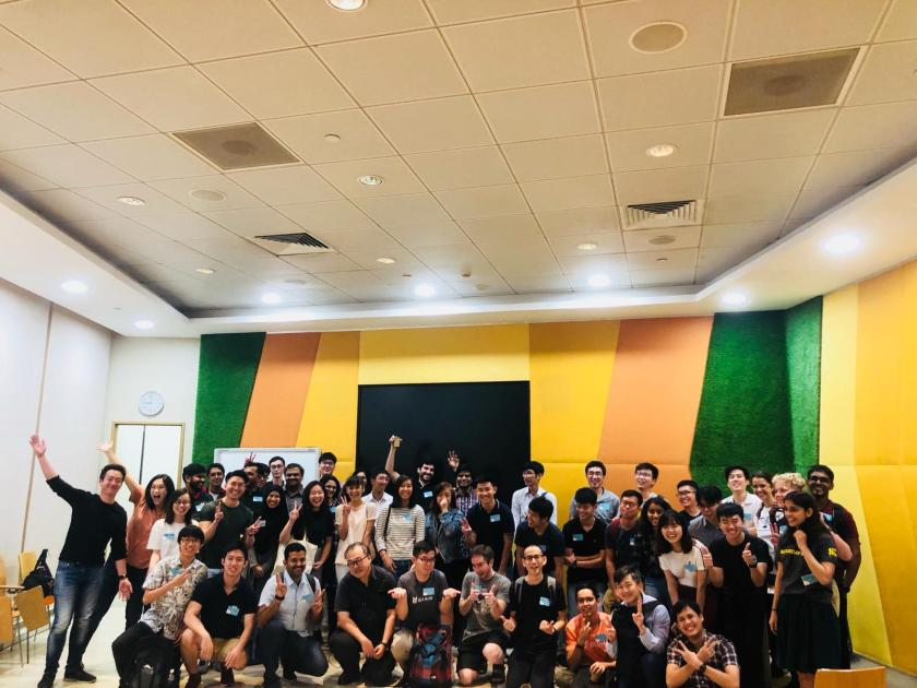 Entire cohort of volunteers for Code in the Community