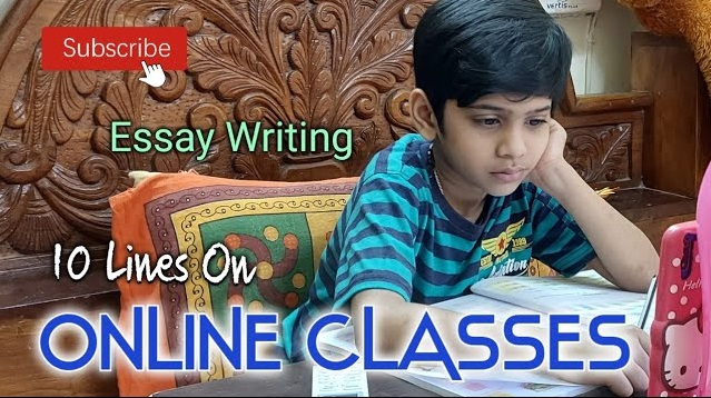 10 lines on Online Classes