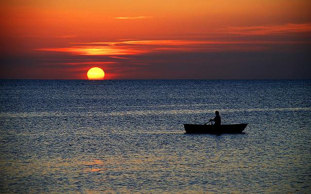 boat-in-the-ocean