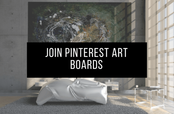 join pinterest art boards header image of painting in room