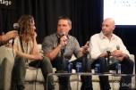 Panelists Jennie Snyder Urman, Kevin Biegel, and Justin Adler